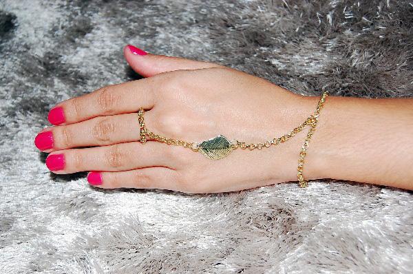 pulseira + anel dourada R$15